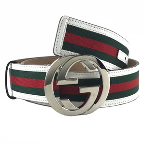 Gucci NEW GUCCI 114984 Unisex Web Belt with Interlocking G Buckle 85-36