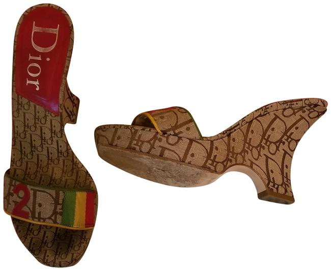 Item - Multicolor Rasta Collection Wedges Size EU 38 (Approx. US 8) Regular (M, B)