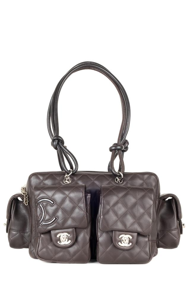 1625558643a23b Chanel Cambon Ligne Reporter Brown Quilted Leather Shoulder Bag ...