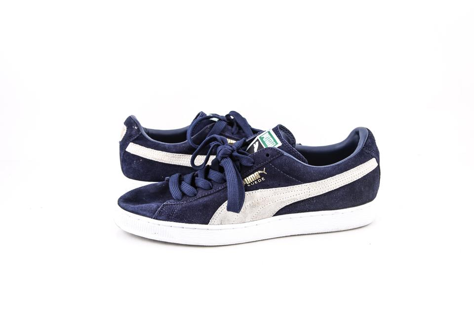 site réputé 1b6a2 aaf41 Puma * Blue Classic Suede Sneakers Shoes 25% off retail