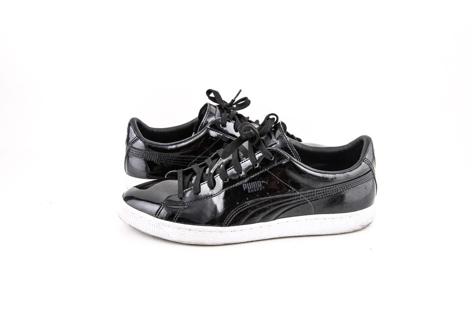 watch 61dfe f6f98 Puma * Black Classic Patent Sneakers Shoes 37% off retail