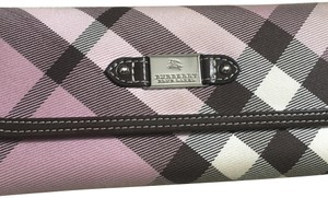 Burberry Blue Label Ladies Wallet in Pink Check.
