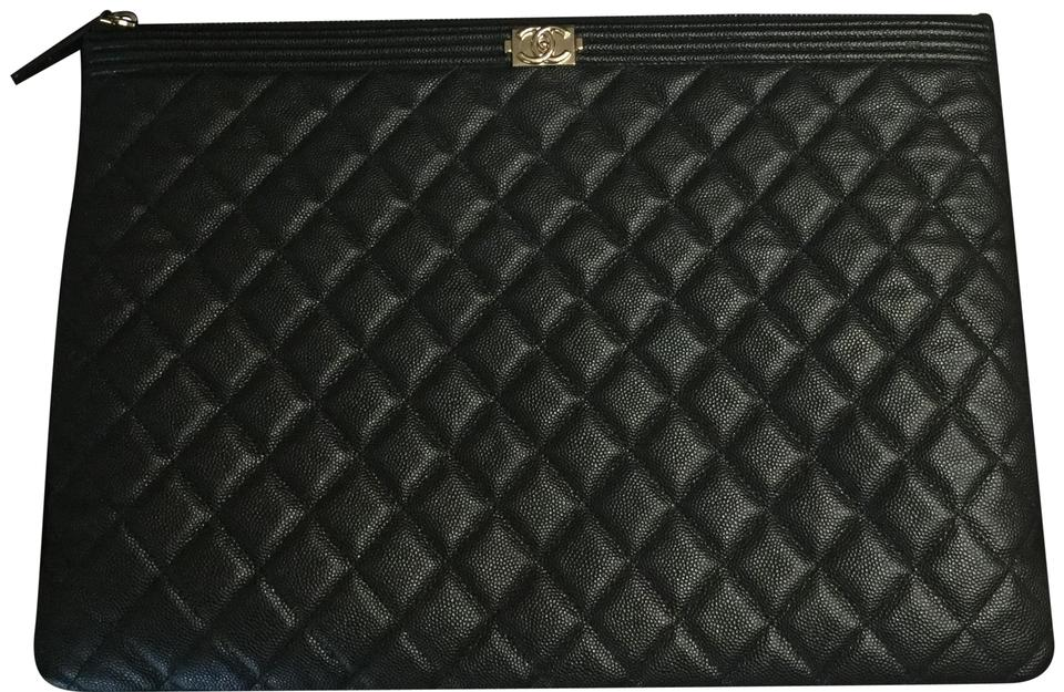 cb37d8c2f2fa Chanel Boy O Case In Black Caviar Clutch - Tradesy