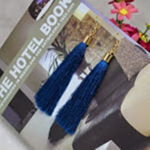 Other Royal Blue Tassel Earrings