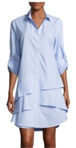 Finley short dress blue / white Shirt Pinstripe Button Down on Tradesy