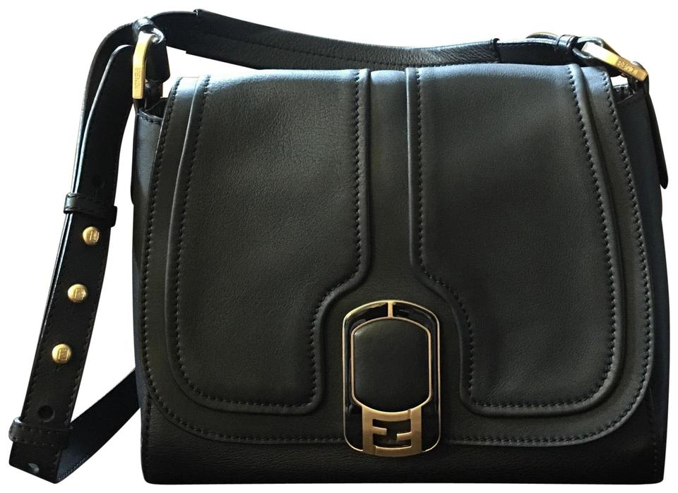 e5280a22cc Fendi Black Leather Cross Body Bag - Tradesy