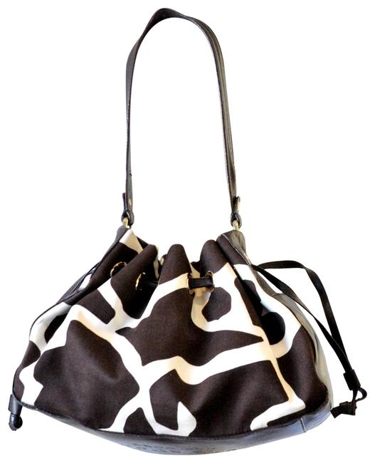 Item - Drawstring Brown Canvas Shoulder Bag