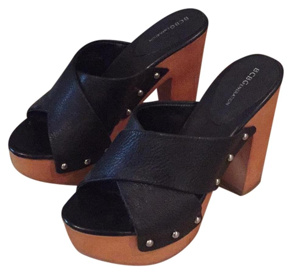 LADY Mules/Slides BCBGeneration Black Chunky Heel Mules/Slides LADY New products in 2163 0083de