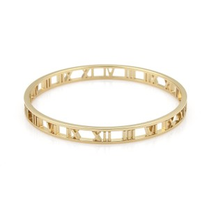 Tiffany Amp Co Open Atlas Roman Numeral 18k Yellow Gold 6