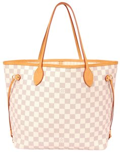 Louis Vuitton Neverfull Mm Damier Canvas Tote in Azur 5852