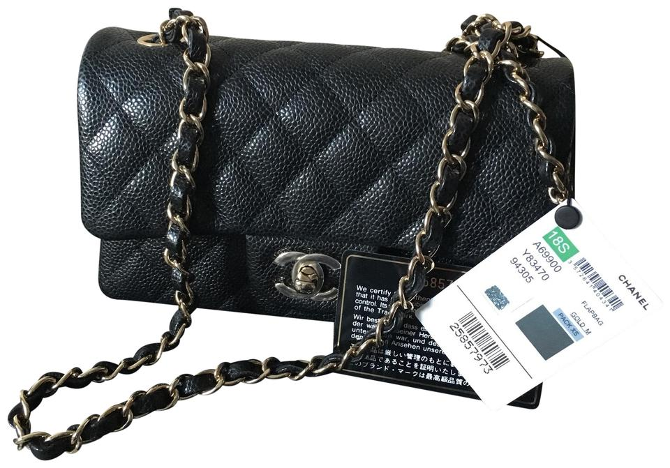 f584b8cd1b53 Chanel Sold Out 18s Mini Rectangle with Lghw Black Caviar Cross Body ...
