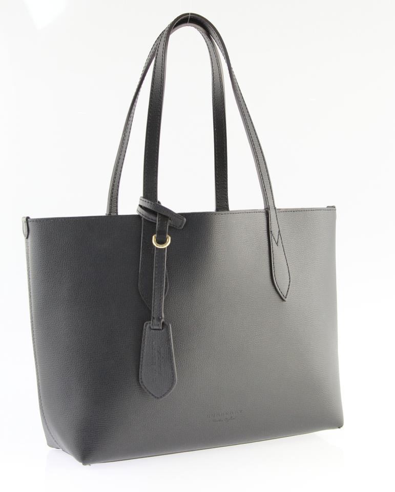 478a89cd8e10 Burberry Small Lavenby Reversible House Check Leather Black Tote ...