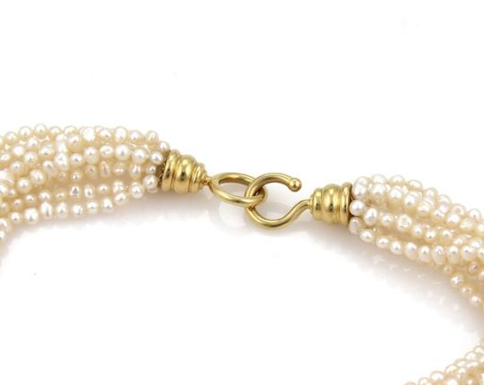 Tiffany & Co. Picasso 1982 Multi-Strand Pearl 18k Gold Torsade Necklace 28