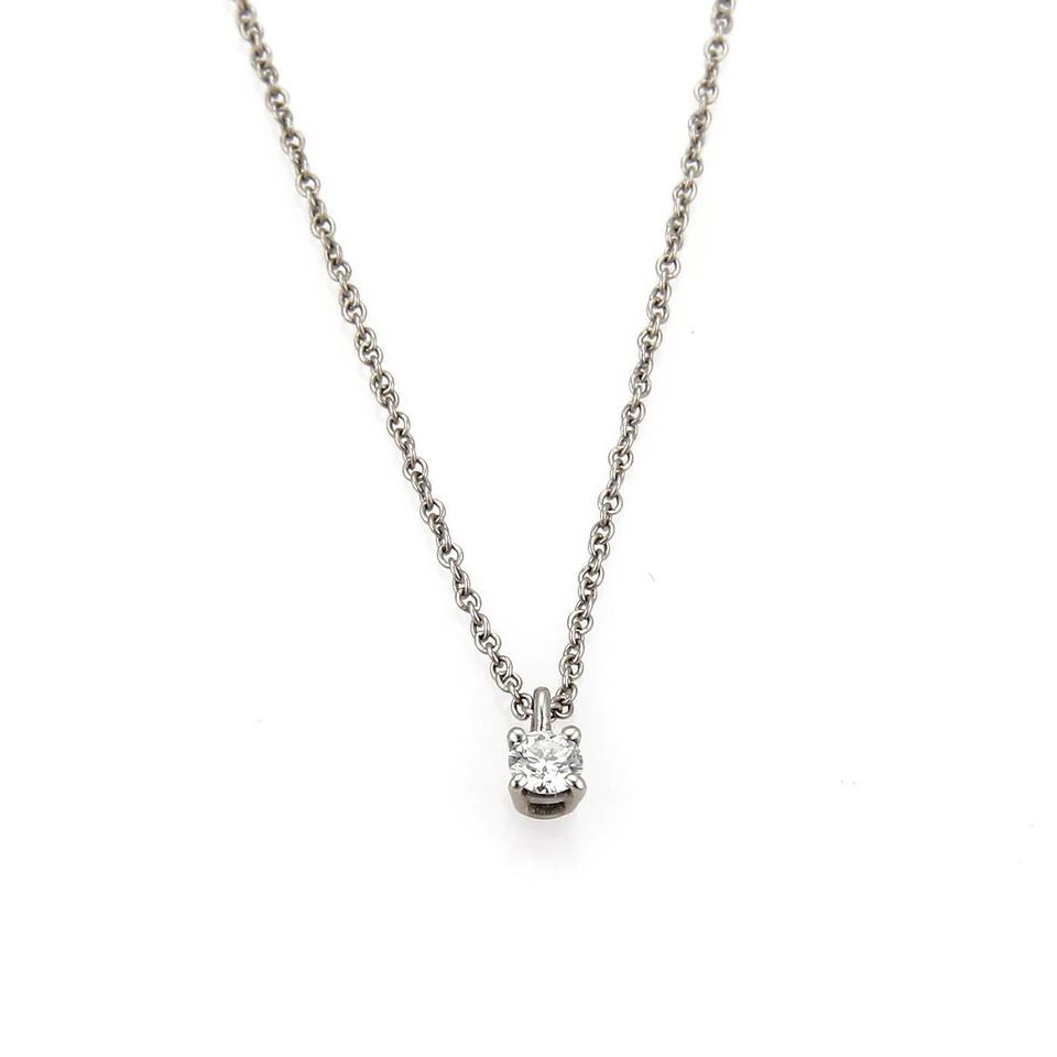 Tiffany co diamond platinum solitaire pendant chain necklace tiffany co diamond platinum solitaire pendant chain necklace aloadofball