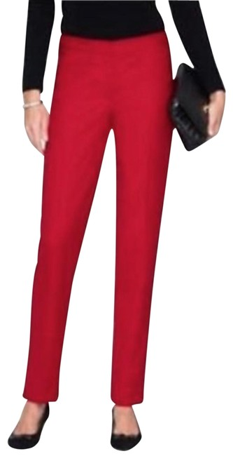 Item - Red Italian Marzotto Wool Flannel Pants Size 8 (M, 29, 30)