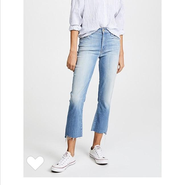 Mother Capri/Cropped Denim-Medium Wash Image 3
