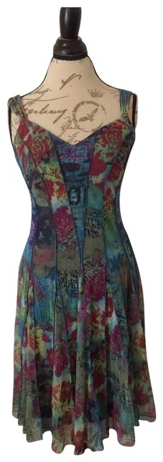 Item - Multicolored Mid-length Cocktail Dress Size 8 (M)