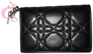 Dior Christian Dior Lady Dior Cannage Card Holder Wallet
