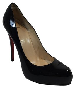 Christian Louboutin Patent Leather Rolando Stiletto Black Pumps