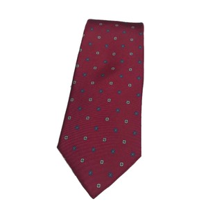 Dior Red Christian Men's Necktie Tie/Bowtie