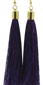 Other Navy Blue Tassel Earrings