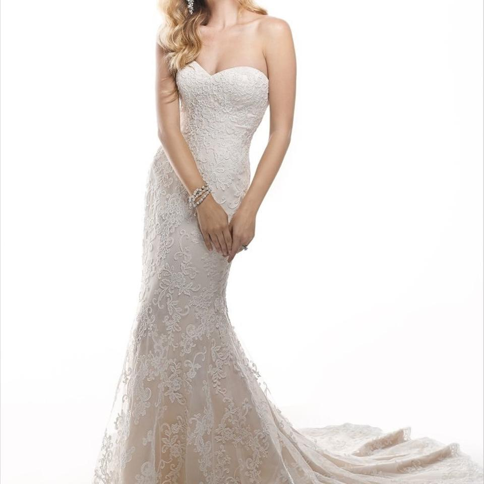 Maggie Sottero Lace Wedding Gown: Maggie Sottero Ivory Lace Chesney Vintage Wedding Dress
