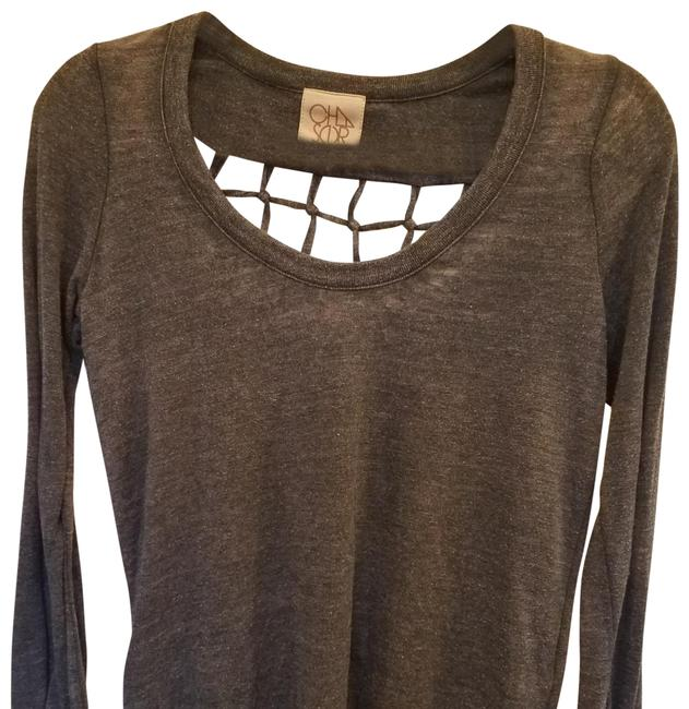 Item - Exposed Knotted Back Sweat Shirt Faded Grey Sweater