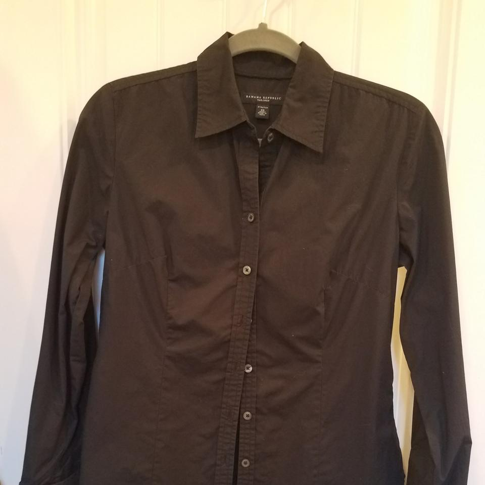 6a942cb0 Banana Republic Black Shirt Button-down Top Size 2 (XS) - Tradesy