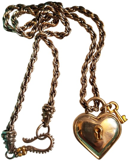 Tiffany Amp Co Silver Heart Lock Pendant With Key Necklace