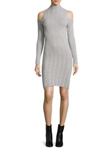French Connection short dress Grey Sweater Fc Sweater Cold Shoulder on Tradesy