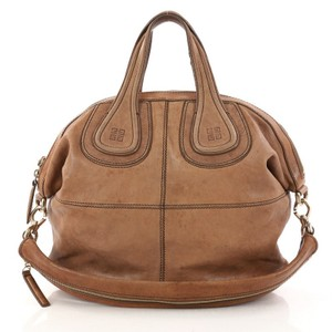 Givenchy Nightingale Leather Satchel in Brown