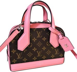 Louis Vuitton Dora Limited Edition Rare New Satchel in Monogram and Pink
