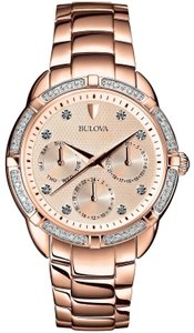 Bulova Bulova Women's 98W178 Quartz Diamond Accents Rose Gold 36mm Watch