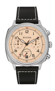 Bulova Bulova Military Men's Quartz Black Leather Band 43mm Watch 96B231