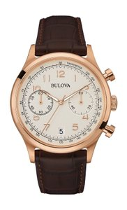 Bulova Bulova Men's 97B148 Quartz Chronograph Grey Dial Brown Leather Watch