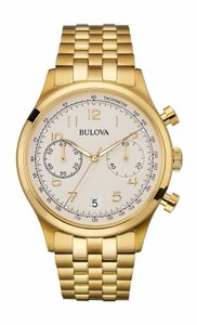 Bulova Bulova Men's 97B149 Classic Chronograph Yellow Gold Watch