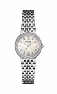 Bulova Bulova Women's 96R203 Diamond Dial Quartz Stainless Steel Watch