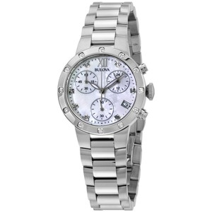 Bulova Bulova Women's 96W202 Quartz Diamond Accents Chronograph 30mm Watch
