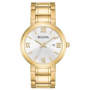 Bulova Bulova Men's 97B158 Quartz Silver Dial Gold-Tone Bracelet 44.5mm Watch