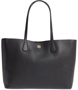 Tory Burch Summer Leather Carryall Tote in Black