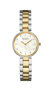 Bulova Bulova Women's Quartz Diamond Mother of Pearl Dial Watch 98P146