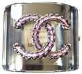 Chanel rare pvc purple chain clear pvc cuff