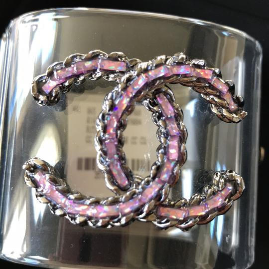 Chanel rare pvc purple chain clear cuff Image 11