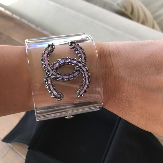 Chanel rare pvc purple chain clear cuff Image 8