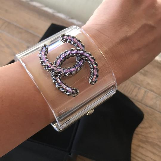 Chanel rare pvc purple chain clear cuff Image 9