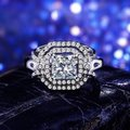 Other SHUANGR Handmade Jewelry 2016 New Fashion Clear CZ Ring in White Gold-Color with AAA Imitation , Carat Total Weight 8 Image 5