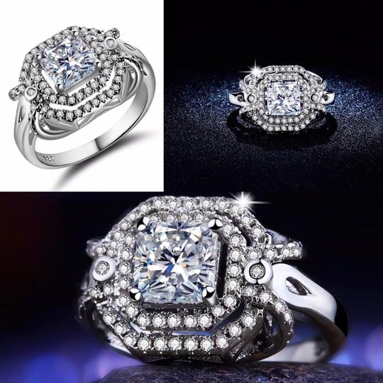 Other SHUANGR Handmade Jewelry 2016 New Fashion Clear CZ Ring in White Gold-Color with AAA Imitation , Carat Total Weight 8 Image 6