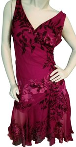 Alex Evenings Embellished Crossover Front Silk Party Fancy Dress