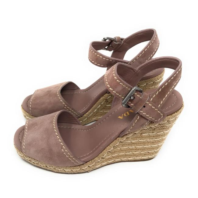 Item - Purple Dark Mauve Suede Platform Espadrilles Wedges Size EU 40.5 (Approx. US 10.5) Regular (M, B)