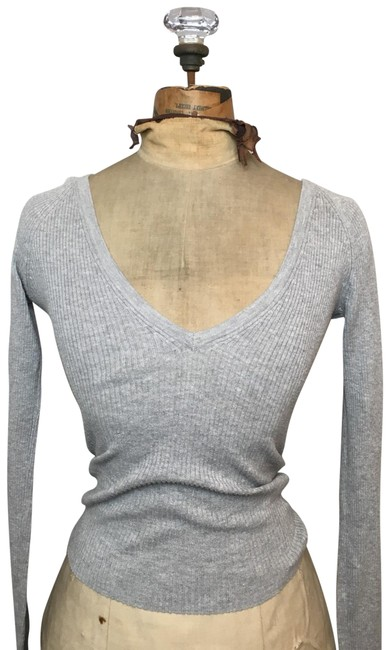 Item - Grey Long Sleeve Blouse Size 0 (XS)
